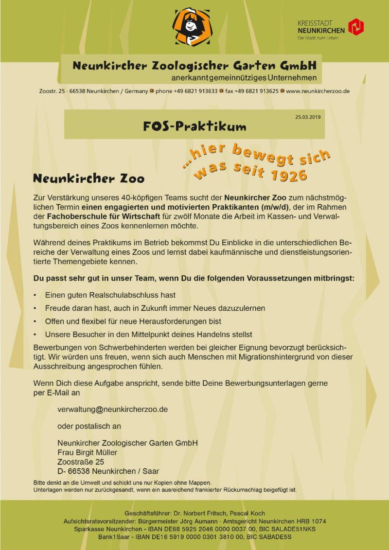 NKZOO_Stellenausschreibung_FOS-Praktikum_25_03_2019