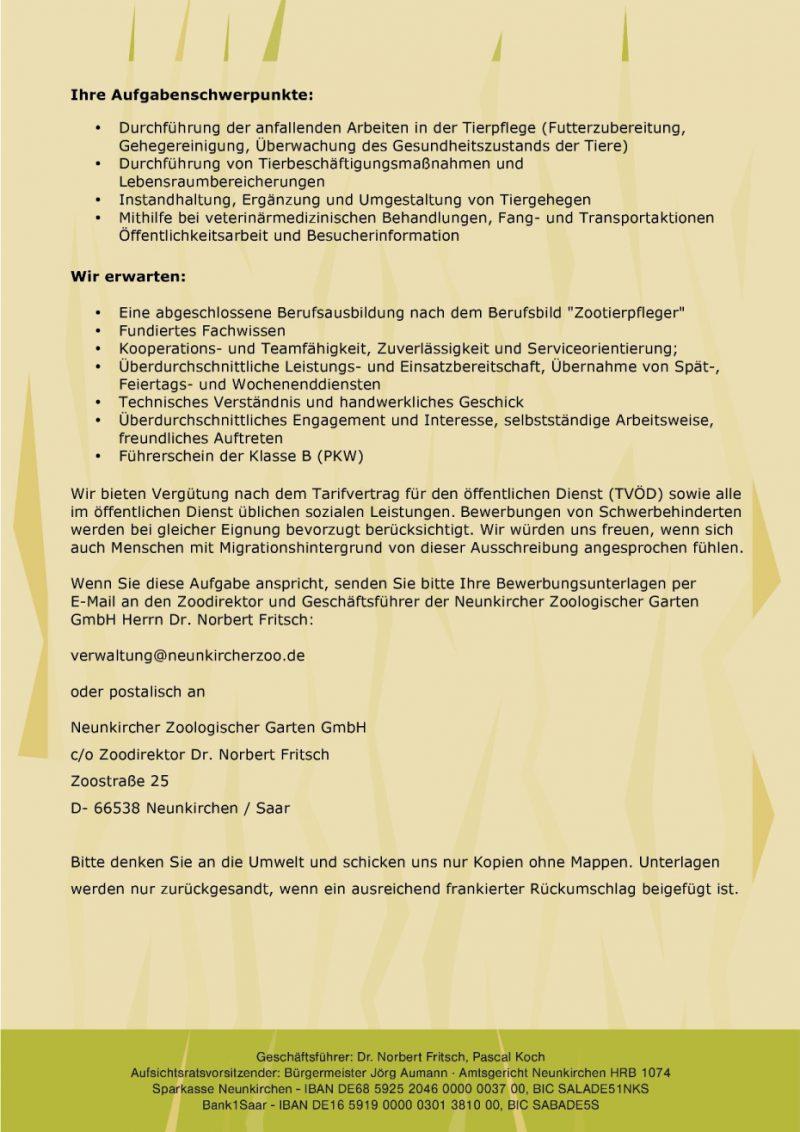 Neunkircher-Zoo-Stellenausschreibung-Zootierpfleger-für-unbefristetes-Vollzeitarbeitsverhältnis-gesucht-2